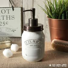 rustic country style kilner jar soap dispenser in distressed