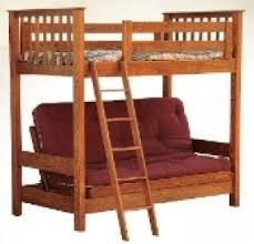 Wood Futon Bunk Bed Solid Wood Bunk Beds With Stairs Foter