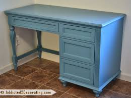 a turquoise desk for my white room
