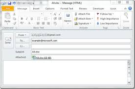 adding outlook email tool in excel 2010