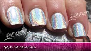 gosh cosmetics 549 holographic nail polish youtube