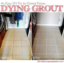 How To Whiten Bathroom Tiles Dying Grout Tutorial Grout Tile Flooring And Tutorials