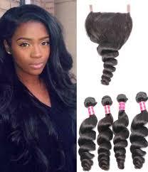 pics of loose wave hair 4 bundles brazilian virgin loose wave hair weave with pre plucked