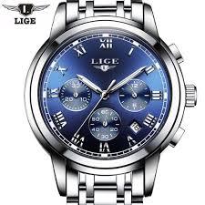 bracelet homme montre images Lige montres hommes mode marque multifonctions chronographe quartz jpg