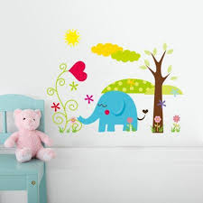 wall stickers jungle cartoon cute animals wall murals you ll love baby kids room cute cartoon jungle animals diy removable wall