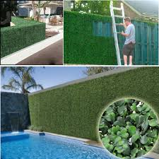 40 discount artificial garden hedges plants 12pcs 50x50cm
