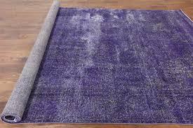 Lilac Rug Vintage Oriental Overdyed 8 U0027x12 U0027 Purple Hand Knotted Wool Area Rug