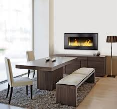 formidable concrete contemporary fireplace design with tempered