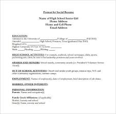 pdf resumes for high students high senior resume pdf free download high template 9 word