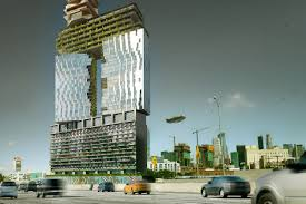 toyota dealership in los angeles fanciful 52 story tower intended as u0027gateway u0027 to downtown los