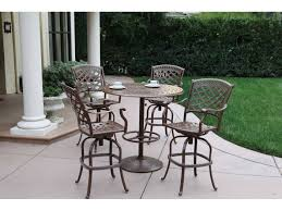 30 round bar table darlee outdoor living series 60 cast aluminum 30 round bar table