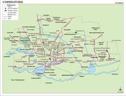 Driving Maps Coimbatore City Map Coimbatore U2022 Mappery