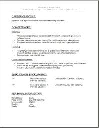 Physical Education Teacher Resume Sample by Educational Resume Template Teacher Resume Template Download