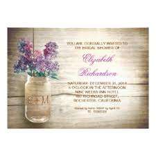 jar invitations jar bridal shower invitations rustic country wedding