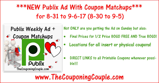 publix ad with coupon matchups for 8 31 to 9 6 17 8 30 to 9 5