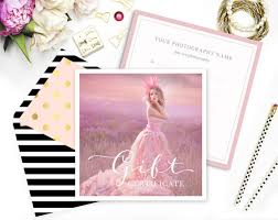 gift certificate template photography gift card photoshop template