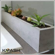 28 concrete planters demilune table concrete top welded