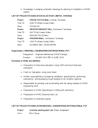 Hvac Resume Templates Hvac Technician Resume Samples Related Post For Sample