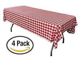 round picnic table covers for winter amazon com pack of 4 plastic red and white checkered tablecloths