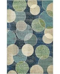 Abstract Area Rugs On Sale Now 23 Unique Loom Spectrum Navy Blue Green Circles