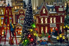 photographing a miniature christmas city by department 56