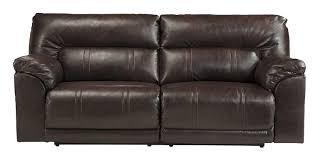 Benchcraft Furniture Amazon Com Ashley Barrettsville 2 Seat Leather Power Reclining