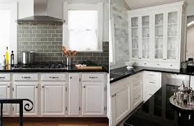 backsplash with white kitchen cabinets how to pair countertops and backsplash countertops black