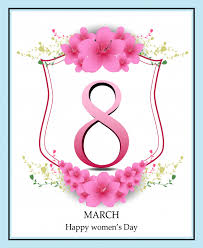 s day greeting cards happy women s day greeting card women and text 8th march vector