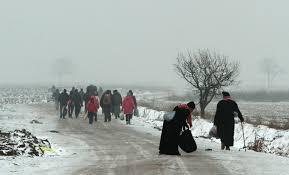 refugees between and harsh winter al jazeera