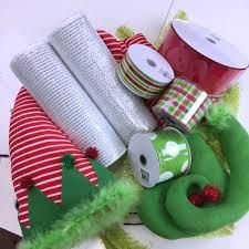 wreath supplies 2016 with striped hat legs wreath tutorial trendy tree