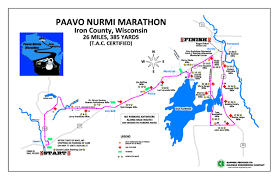 Boston Marathon Route Map by 49th Annual Paavo Nurmi Marathon