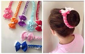 wholesale hair bows hair bun wraps boutique hair bows wrap hair bows