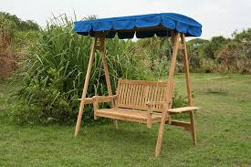 Swing Bench Outdoor by Swing Bench With Canopy Outdoor Garden Teak Furniture