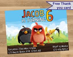 angry birds invitation angry birds personalized invitation angry