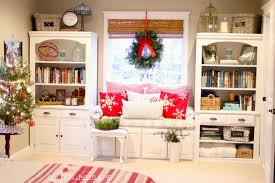 Built In Bookshelves With Window Seat Golden Boys And Me Christmas Master Bedroom