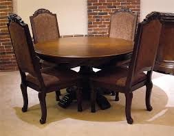 old world dining room tables old world 5pc round pedestal table chair set rotmans dining