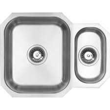 1 bowl kitchen sink undermount 1 1 2 bowl kitchen sink 594 x 460 x 195mm deep