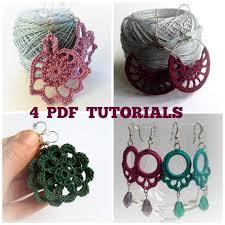 quilling earrings tutorial pdf free download set of 4 crochet patterns crochet earrings pdf pattern crochet