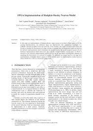 fpga implementation of hodgkin huxley neuron model