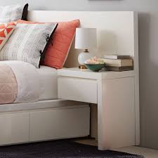 Bed And Nightstand Impressive Nightstand For Bed With Drawers Storage Bed Nightstand