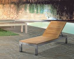 High End Outdoor Furniture by Olden Single Chaise In Grade A Teak And Stainless Steel Caluco