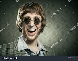 funny 1960s style guy after snorting stock photo 176967227