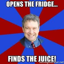 Teacher Meme Generator - opens the fridge finds the juice eccentric english teacher