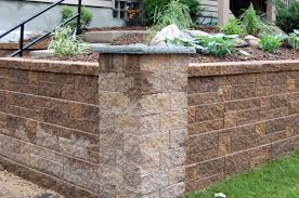 Retaining Wall Design Ideas by Decorating Pretty Stone Wall Decoration With Versa Lok For