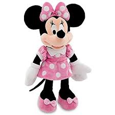 disney 18 minnie mouse in pink dress plush doll toys