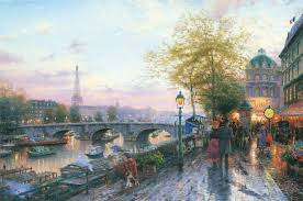 paris eiffel tower the thomas kinkade company