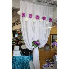 Chiffon Ceiling Draping Chiffon Fabric Roll White 40 Yards Draping Ceiling Fabric