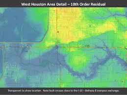 houston fault map greater houston area elevation analysis