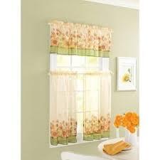 Orange Kitchen Curtains Sale Amazon Com Curtain Closeout Sunflower Kitchen Window Tiers 56 By