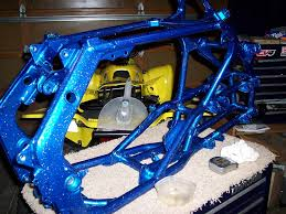what color is the suzuki factory blue that is painted on the frame
